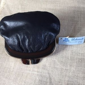 Vintage Italian Leather Purse Cosmetic Bag